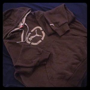 Brown Puma hoodie - M